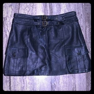 ROBERT RODRIGUEZ BLACK PERFORATED LEATHER SKIRT 4